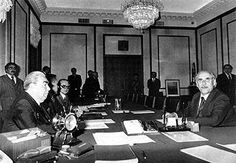 Spring 1978. Noor Mukhammad Taraki - chairman of Revolutionary Council of Afghanistan at meeting with L.I. Brezhnev in Moscow.