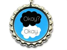 The Fault In Our Stars Book Necklace John Green Book Jewelry Okay? Okay. Quote #Charm