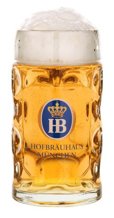 1 Litre Stein of Hofbräu. Have the glass and drank the beer. The beer is wonderful.