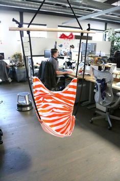 Office Hammock Chair http://www.instructables.com/id/Office-Hammock-Chair/ Might be cool for the tree.