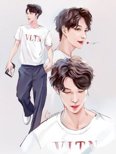 Pin by no longer human 🐳 on kpop art in 2019 рисунки, аниме, K Pop, Exo Fanart, Exo Anime, Princess Movies, Boy Illustration, Illustrations, Korean Artist, Yixing, Disney Fan Art