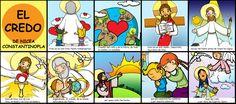 Dibujos para catequesis: CREDO DE NICEA-CONSTANTINOPLA / PARTE I