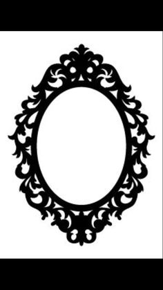oval frame tattoo design. I Think In Love With This Design From The Silhouette Gothic Cameo Frame  Clipart Oval Tattoo