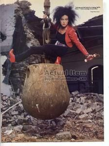 Grace Slick - Welcome to the Wrecking Ball.  This picture is on the fold-out inner sleeve of the record and never fails to cheer me up.