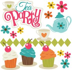 Tea Party - SVG Scrapbooking files to cut