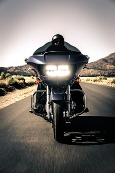 New Dual Reflector Daymaker LED headlights. Here are the stats: 85% more spread and 6% more punch on low beam, 35% more spread and 45% more punch on high beam. Here's to keeping the kickstand up when the sun goes down. | 2015 Harley-Davidson Project #RUSHMORE Road Glide & Road Glide Special