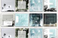 8 Pack Instagram Travel Layouts by Aloha Philly on @creativemarket