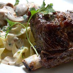 tyler florence slow roasted beef ribs with mushroom stroganoff