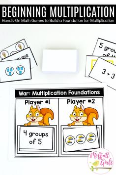 In Grade, students work to build a conceptual foundation for multiplication, which will prepare them for applying these skills in grade. Multiplication Problems, Multiplication And Division, 2nd Grade Math, Math Class, Grade 3, Math Stations, Math Centers, Daily Lesson Plan, Teaching Math