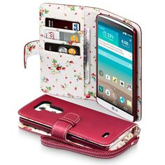 LG G3 Case, Terrapin [Red] [Floral Interior] Premium PU Leather Wallet Case with Card Slots, Cash Compartment and Detachable Wrist Strap for LG G3 (2014) Terrapin http://www.amazon.com/dp/B00KCF2LOQ/ref=cm_sw_r_pi_dp_2iatub10D7ER3