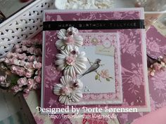 Fasters korthus: Pink flower card no 1