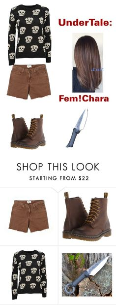 """""""UnderTale: Fem!Chara"""" by derpiplier ❤ liked on Polyvore featuring Current/Elliott, Dr. Martens and WearAll"""