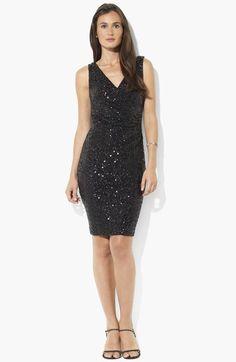 Lauren Ralph Lauren Sequin Sheath Dress available at #Nordstrom