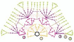 African Flower chrochet chart pattern