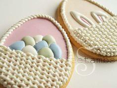 Easter Baskets by SweetAmbsCookies, via Flickr