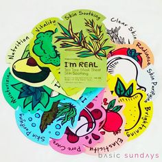 TONY MOLY I'M REAL | Tony Moly's collection of I'm Real sheet masks are instant skin treatments in as little as 20 minutes.  Don't you just want to try all 11 of them? - $2.99CAD each, use BASIC10 for 10% off xx #basicsundays #tonymoly #imreal #sheetmasks #kbeauty #koreanskincare #asianbeauty #asianskincare #beautycare #pamperyourself #loveyourself