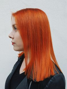 Perfect copper-orange hair by Susanna Poméll / healthyhair.fi