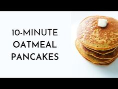 Oatmeal Pancakes {Healthy, But Addictive} - Her Highness, Hungry Me - These oatmeal pancakes take 10 minutes to make using basic healthy ingredients you have in your pan - Healthy Breakfast Snacks, Healthy Food, Charcuterie Recipes, Oatmeal Pancakes, Vegan Dishes, Cooking Recipes, Kangaroo Illustration, Frugal, Pantry