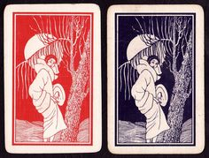 Vintage Trading cards  Art Deco Lady. swap/playing cards