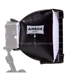 Airbox #Lights  Mini Softboxes can be purchased with or without  the Eggcratefront #covers. Inflatable softboxes for use with on #camera #LED #lights. http://www.studiohut.com/p-1959-airbox-lights-450024-mini-softbox-with-eggcrate.aspx