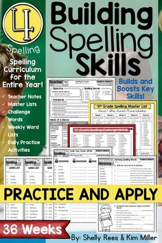 Fourth Grade Spelling and Vocabulary Program for the YEAR! This resource contains everything you need to teach 4th grade spelling for ALL 36 weeks of the school year. It has been thoughtfully constructed to address the Common Core standards and helps students learn and master words for specific spelling rules and patterns, as well as academic content vocabulary.