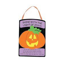 Christian Pumpkin Craft Kit - OrientalTrading.com