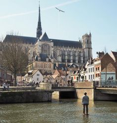 View on Amiens' Cathedral from the Somme River