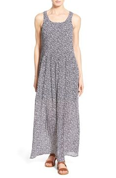 MICHAEL MICHAEL KORS 'Liona' Print Pintuck A-Line Maxi Dress. #michaelmichaelkors #cloth #