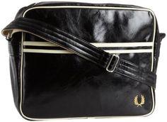 Fred Perry Men's Classic Shoulder Bag, Black/Ecru, « Impulse Clothes