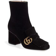 Women's Gucci 'Marmont' Fringe Bootie
