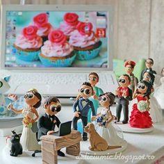 In plin sezon  Figurine de tort personalizate- mire si mireasa www.deliciumic.ro - http://ift.tt/1ipRjKg -