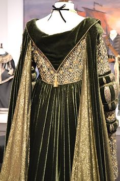 Movie costume dress, style of Venetian 1490s (Cranach sketches)  Back of gown, not sure on that tassel