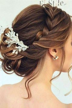 Partially braided updo
