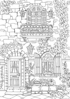 This page features a nice exterior of a fancy European house. Add a personal touch to it, coloring and decorating the wall to your liking. design drawing Fancy Exterior - Printable Adult Coloring Pages from Favoreads Coloring Sheets For Kids, Printable Adult Coloring Pages, Free Printable Coloring Pages, Free Coloring Pages, Coloring Books, Kids Coloring, Colouring Pages For Adults, Coloring Pages To Print, House Colouring Pages