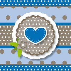 Geboortekaartjes - vrolijke geboortekaart 148 hart