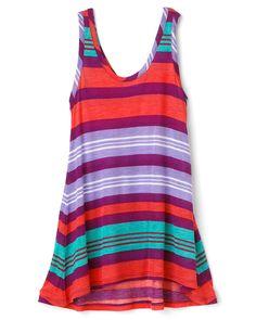 Good Lad 7//16 Multicolored Activewear Hi-Lo Top