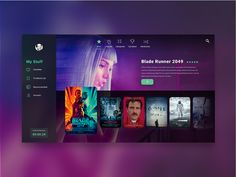 Daily Ui Challenge 025 - TV App designed by Andrea Hock. Connect with them on Dribbble; Web Ui Design, Page Design, Fluent Design, Card Ui, Tv App, Daily Ui, Ui Web, Music App, Mobile App Design