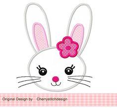 Easter Bunny Applique -4x4 5x7 6x10-Machine Embroidery Applique Design
