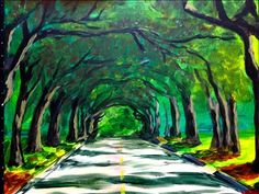 Canopy Road - Tallahassee Painting Class - Painting with a Twist