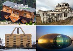 Unusual buildings around the world - ROBERT KWIATEK/AFP/Getty Images; ROBERT KWIATEK/AFP/Getty Images; ddp USA/REX;  Christian Kober/JAI/...