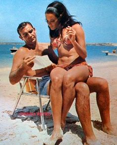 Sean Connery and Martine Beswick