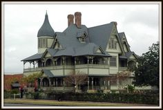 Look at the covered porches on this house!