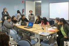 Mesas de trabajo. Mtra. Hilda Bustamante. Seminario: Visiones sobre Mediación Tecnológica en Educación. Primera Sesión, 10 de febrero de 2014.