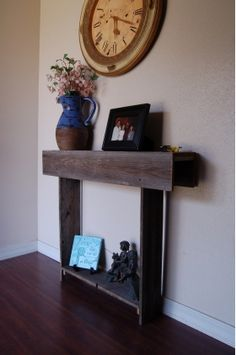 Narrow Entryway Table with with a Small Sculpture