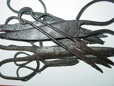 Viking iron scissors and shears c 8-10 century AD. Kievan Rus.