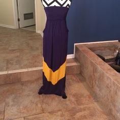 "Selling this ""Purple and gold maxi"" in my Poshmark closet! My username is: nelnelann. #shopmycloset #poshmark #fashion #shopping #style #forsale #Dresses & Skirts"