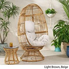 Peacock Chair For Sale, Wicker Peacock Chair, Wicker Chairs, Outdoor Chairs, Rattan, Outdoor Spaces, Outdoor Furniture, Macrame Hanging Chair, Hanging Swing Chair