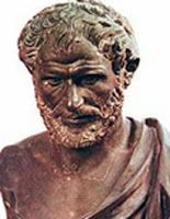 Empedocles (Acragas, 490-435 b.c.) was born in Sicily to a distinguished family. Very little is known about his life. His brilliant oratory, his penetrating knowledge of nature, and the reputation of his marvellous powers, including the curing of diseases, and averting epidemics, produced many myths and stories surrounding his name. He was said to have been a magician and controller of storms, and he himself, in his famous poem Purifications seems to have promised miraculous powers…