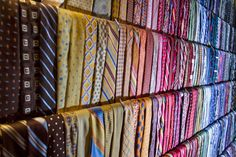 Crazy number of neckties on display, from our client's home in Minneapolis. #neckties #storage #menswear