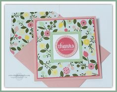 September 20, 2014 Simple Stampin: Stampin' Up! A Happy Hooray, All Abloom DSP Stack, Squares Collection Framelits Die, White Signo Uni-Ball Gel Pen